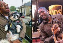 chauffeur UPS selfies chiens