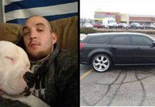 Randy Etter met voiture vente sauver chien