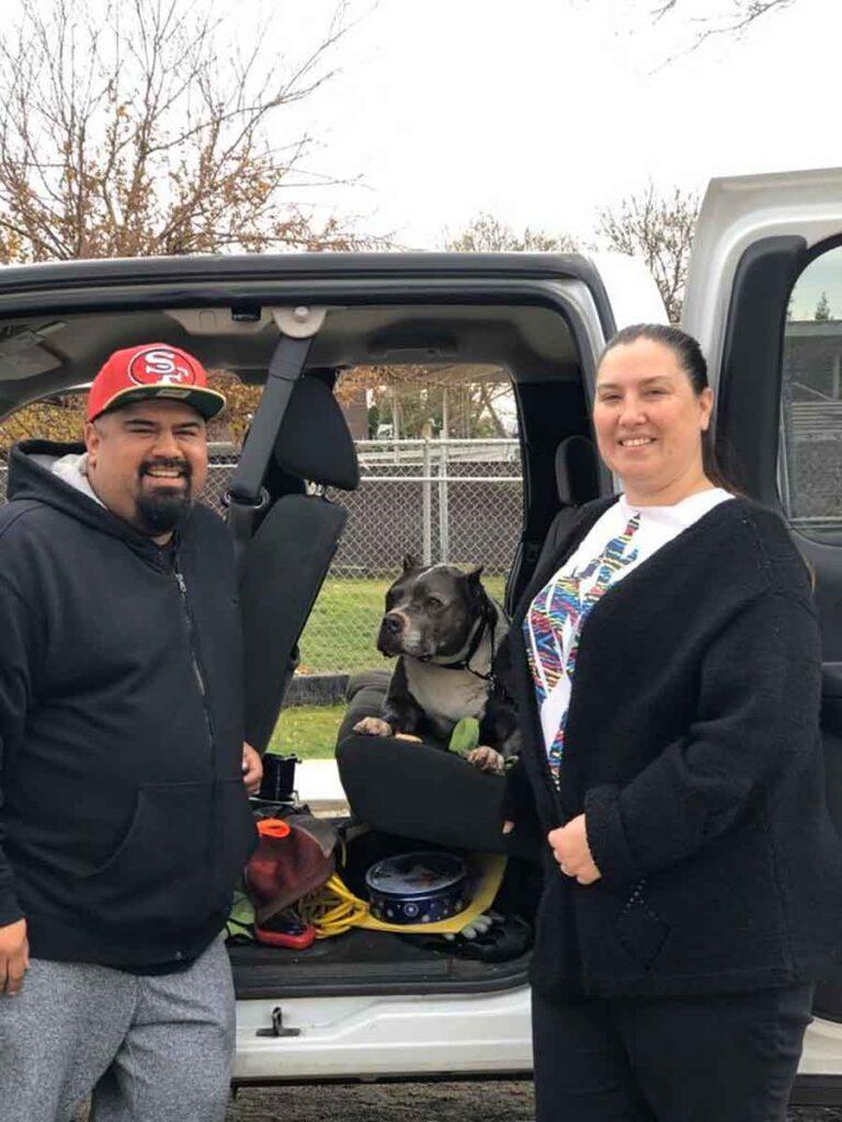 Seamus chien adopté Noël après 5 ans refuge