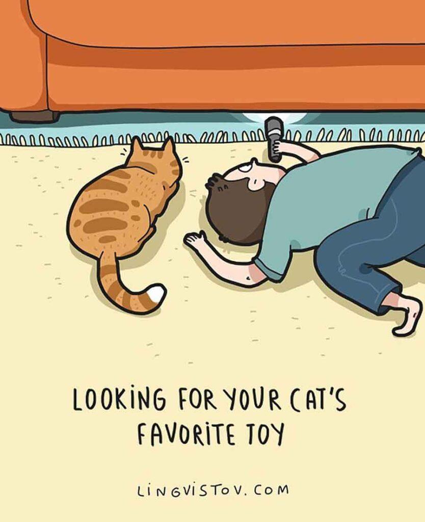 Landysh Asia vie avec chat illustrée bandes dessinées