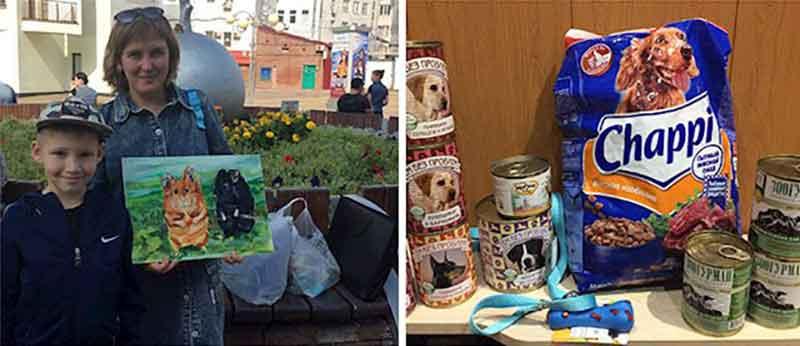 Pasha Abramov Boy Sells Paintings Help Shelter Animals (5)