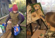 Pasha Abramov garçon vend peintures payer nourriture animaux refuge