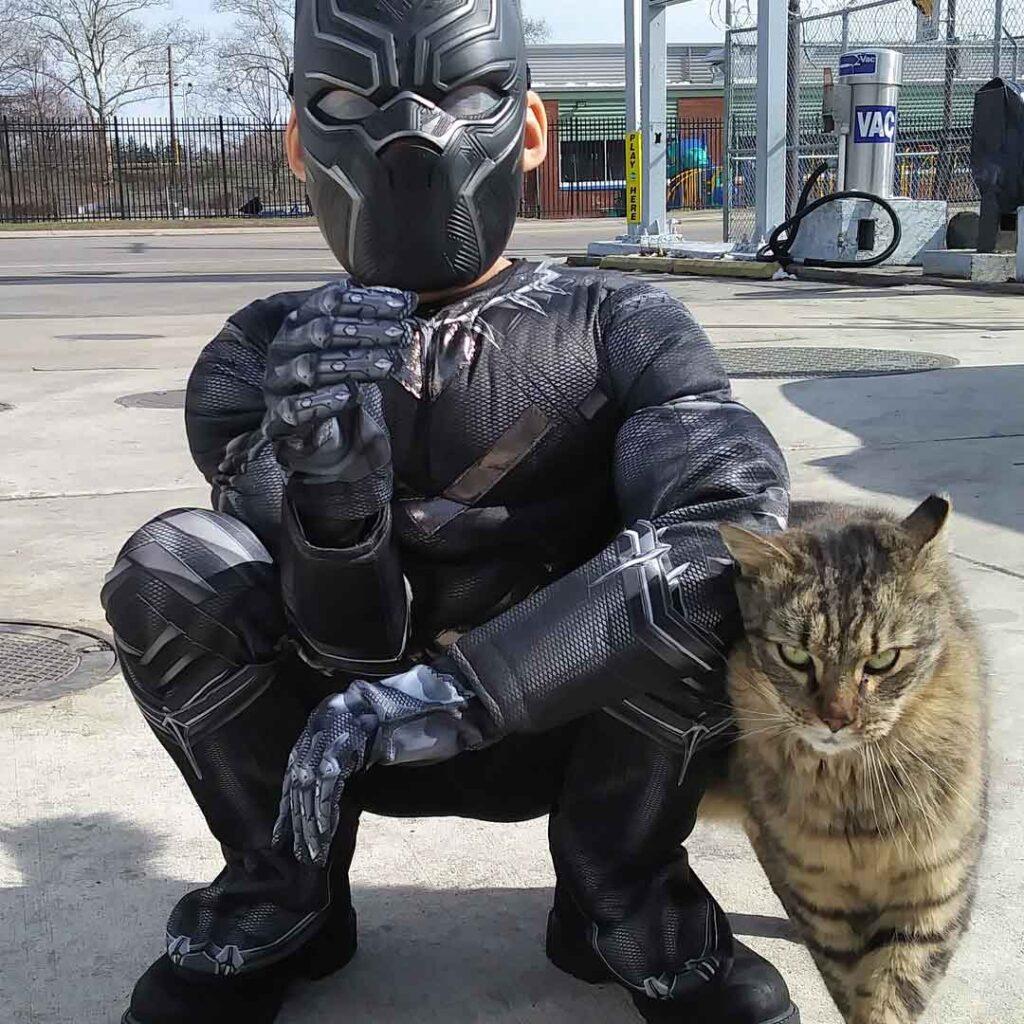 Shon Griffin garçonsuper pouvoirs sauve chats errants