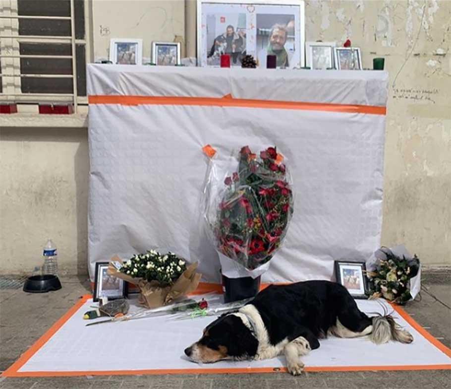 homme sans abri mort perdu chien